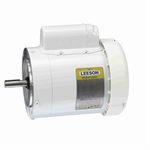 1/2 HP 1800 RPM 115/230 Volt AC Leeson Washguard 114313.00 White Epoxy Coated