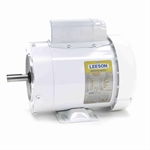3/4 HP 3600 RPM 115/230 Volt AC Leeson Washguard 114314.00 White Epoxy Coated