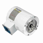 3/4 HP 1800 RPM 208-230/460 Volt AC 3Ph Leeson Washguard 113019.00 White Epoxy Coated