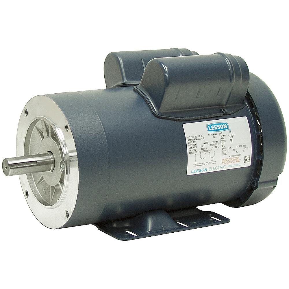 3 Hp 3600 Rpm 230 Vac 1 Ph 145tc Leeson Motor