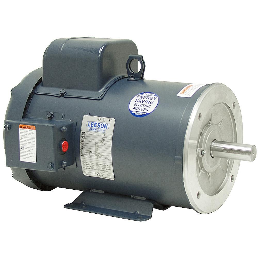 5 hp 3600 rpm 230 vac 184tc leeson motor ac