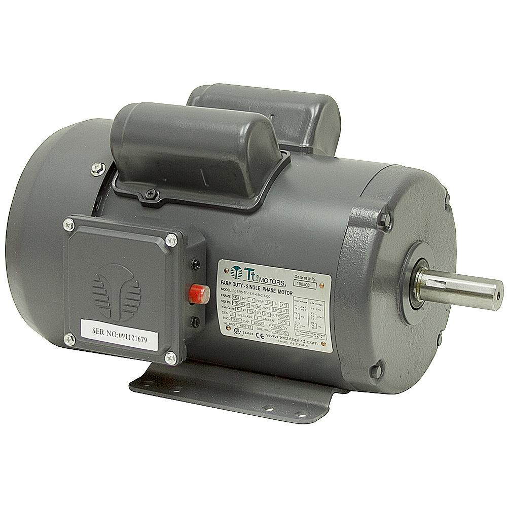 1 hp 1730 rpm 115 208 230 vac farm duty motor ac motors for Farm duty electric motor