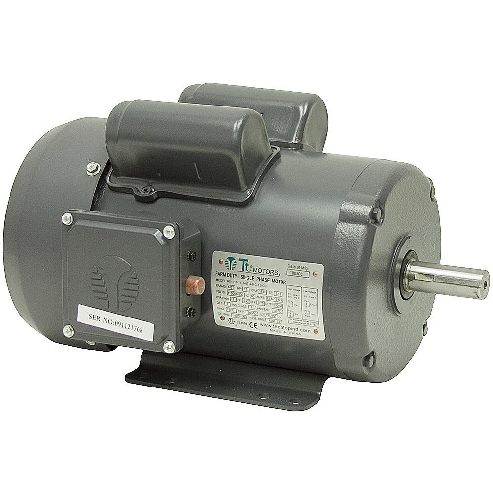 1 5 hp 1730 rpm 115 208 230 vac farm duty motor ac for Farm duty electric motor