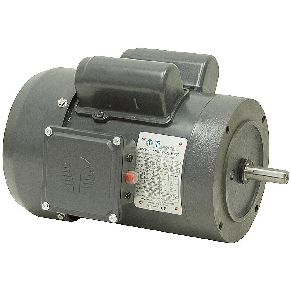 1 2 hp 1725 rpm 115 208 230 vac farm duty motor ac for 1 hp motor rpm