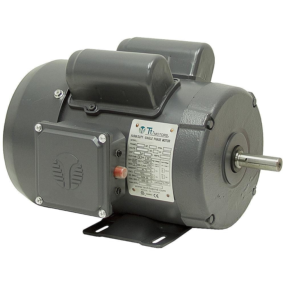 1 2 hp 1725 rpm 115 208 230 vac 56 farm duty motor ac for Farm duty electric motor