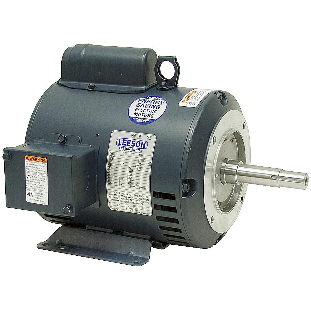 2 Hp 1740 Rpm 115 230 Vac Pump Motor Leeson L13m