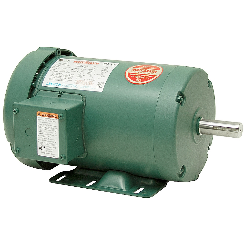 1 5 hp 1750 rpm 230 460 vac 3ph 145t leeson motor 3 for 3 hp single phase electric motor