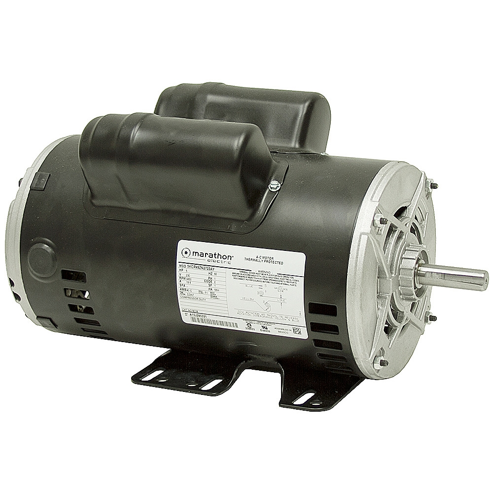 5 hp marathon 3450 rpm 230 vac compressor motor air