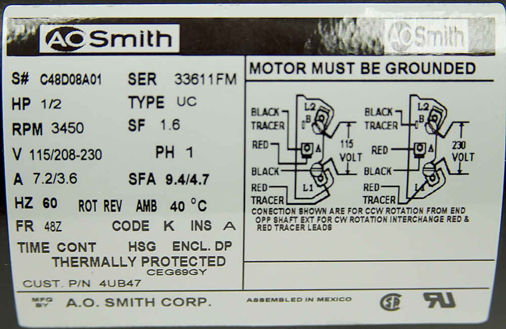 115 230 Volt Electric Motor Wiring Diagram - Wiring Diagram