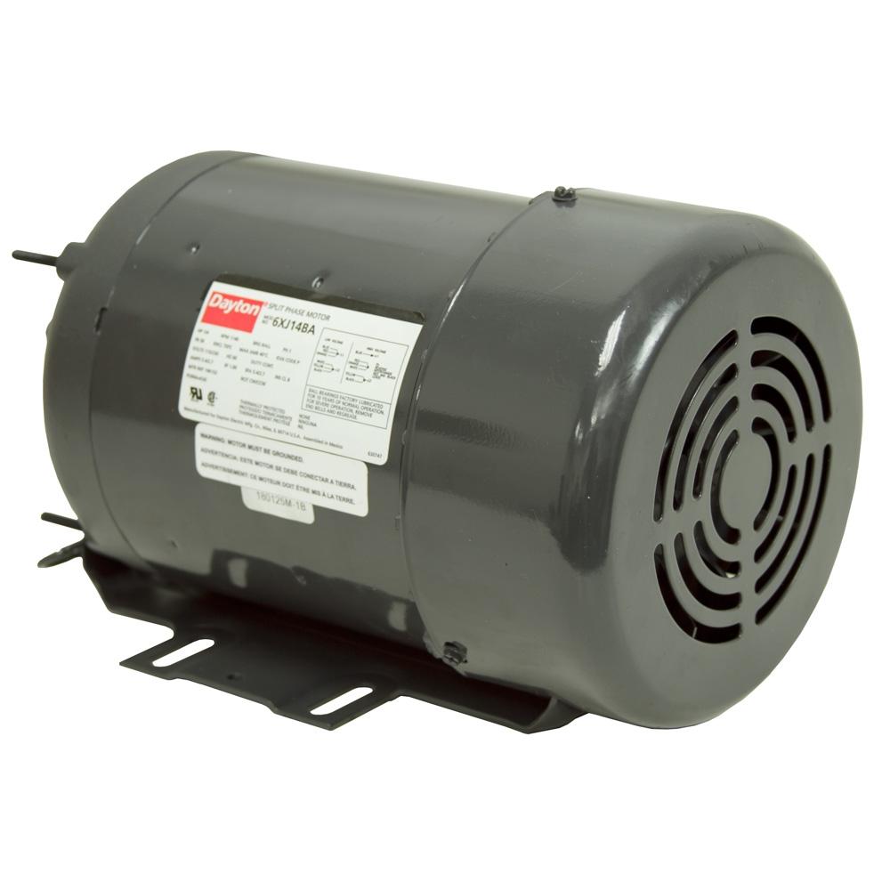 1 4 hp 1140 rpm 115 230 volt ac motor dayton 6xj14ba ac for 1 rpm electric motor