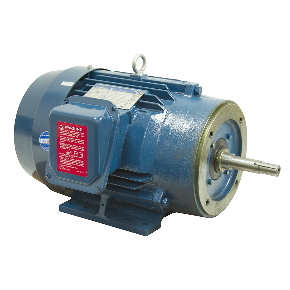 7 5 hp 230 460 vac 3ph 3500 rpm motor century tcp71006 3 for 7 5 hp 3 phase motor