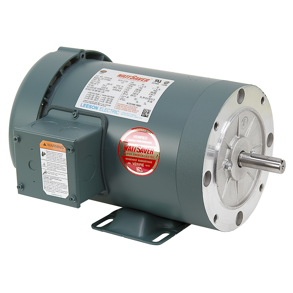 1 hp 1800 rpm 230 460 vac 3ph 56c leeson motor 3 phase for 1 hp 3 phase motor
