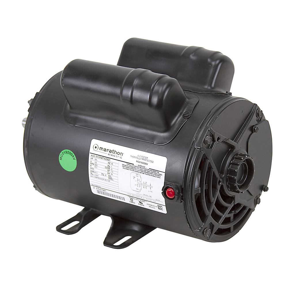 2 Hp 120 Volt Ac 3450 Rpm Marathon Compressor Motor Air