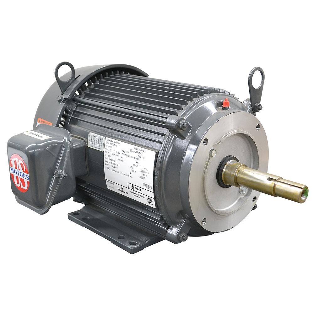 5 Hp Electric Motor >> 5 Hp 3500 Rpm 208 230 460 Volt Ac 3ph Us Motors Electric Motor