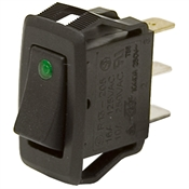 SPST Rocker Switch w/LED 20A