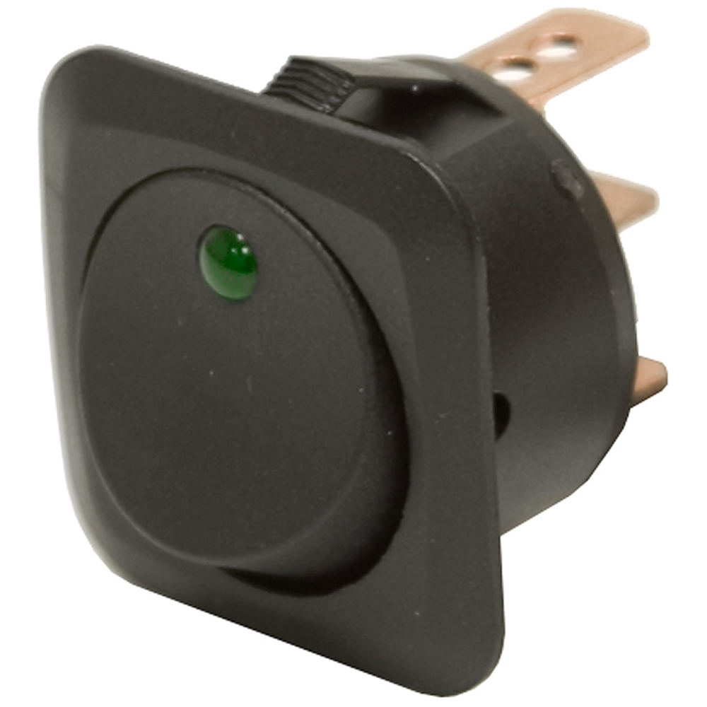 spst rocker switch w led 25a toggle switches switches electrical. Black Bedroom Furniture Sets. Home Design Ideas