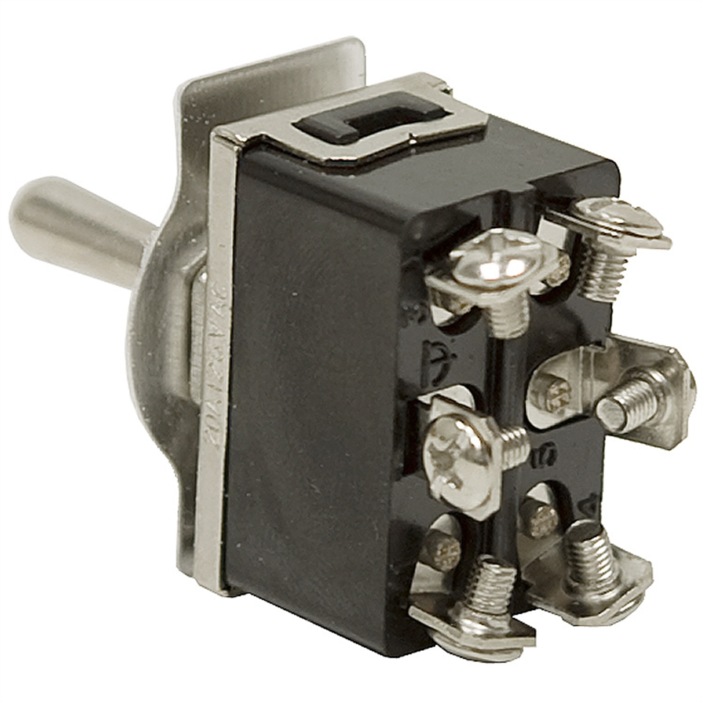 DPDT-CO 20 Amp Momentary-Maintained Toggle Switch 66-1855   Toggle Switches    Switches   Electrical   www.surpluscenter.com   Spdt Momentary Switch Wiring Diagram      Surplus Center
