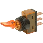 SPST 20 A 12 V TOGGLE SWITCH  AMBER GLOW LEVER