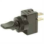SPST 20 Amp 12 Volt DC Black Lever Toggle Switch