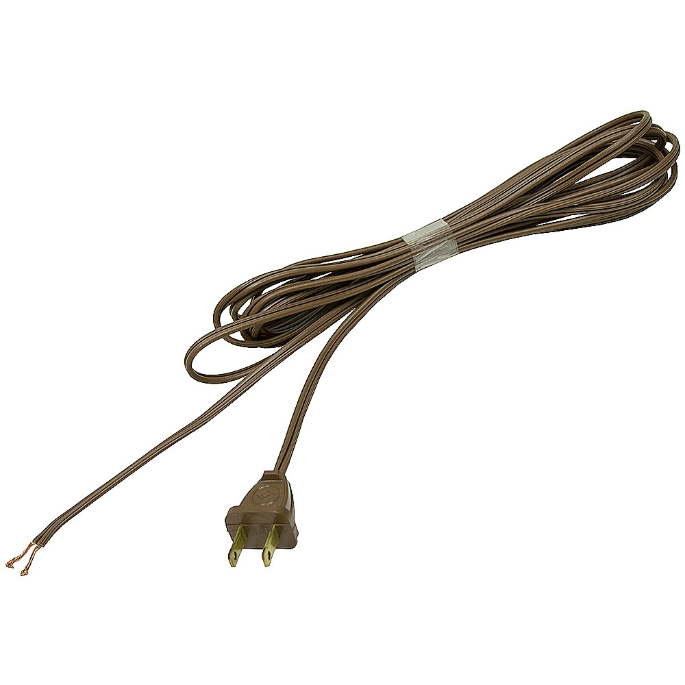 Electrical Power Cord : Brown flat power cord ft cords line