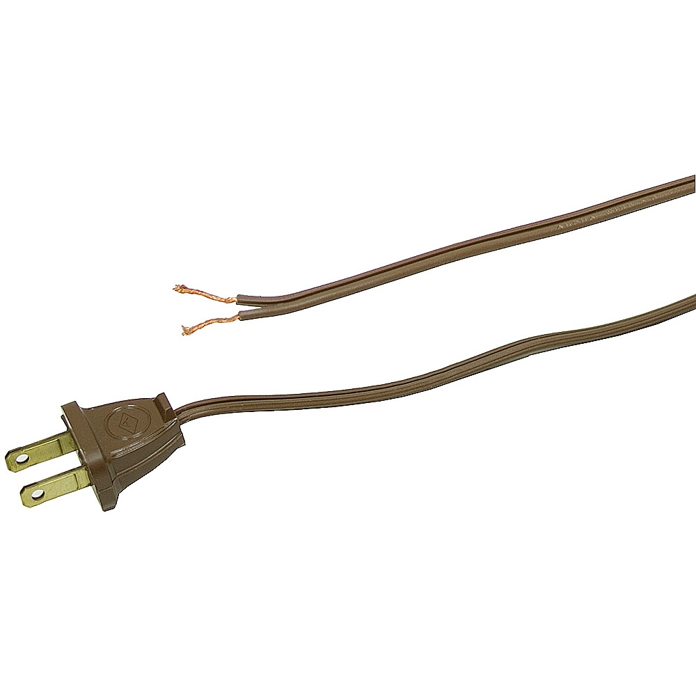 Flat Electrical Cable : Brown flat power cord ft cords line