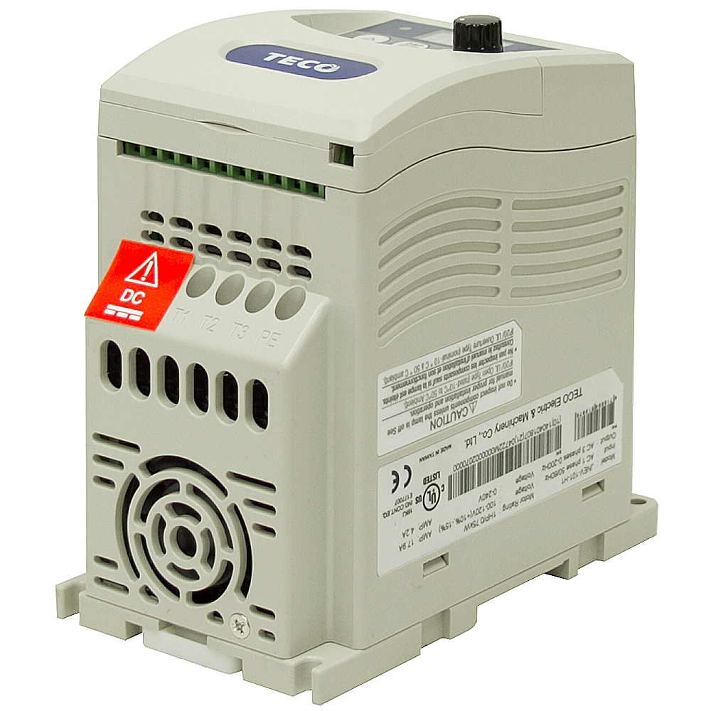 1 hp teco vfd 115 vac 1ph input 3ph output variable for Vfd for three phase motor