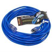 50 Ft 14/3 Blue Extension Cord