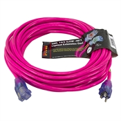 50 Ft 14/3 Pink Extension Cord