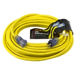 50 Ft 12/3 Yellow Extension Cord