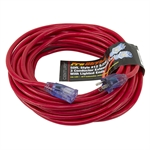 50 Ft 12/3 Red Extension Cord