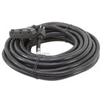 50 Ft 12/3 Triple Tap Black Extension Cord
