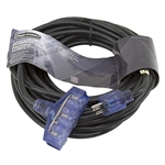 49.2 Ft 12/3 Black Triple Tap Extension Cord