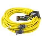50 Ft 12/3 Yellow Sub Zero Extension Cord