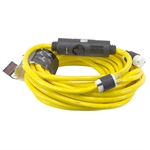 50 Ft 12/3 Yellow Extension Cord w/ Inline Breaker