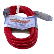 26.2 Ft 16/3 Red Sub Zero Triple Tap Extension Cord