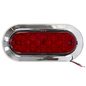 12 Volt DC Blazer Oval LED Light w/ Chrome Bezel C563RTM