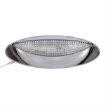 12 Volt DC Optronics LED Chrome Porch Dome Light RVPLL8CC
