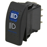 20 Amp 12 Volt DC DPDT Illuminated Rocker Switch