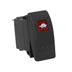 SPST 20 Amp @ 12 Volt DC Illuminated Rocker Switch