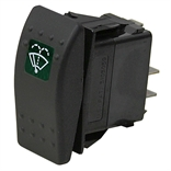 20 Amp 12 Volt DC DPST Illuminated Rocker Switch