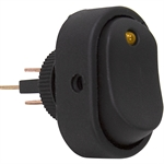 SPST Surface Mount Rocker Switch Amber LED