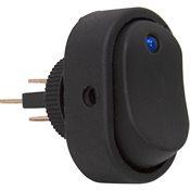 SPST Surface Mount Rocker Switch Blue LED