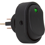 SPST Surface Mount Rocker Switch Green LED