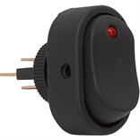 SPST Surface Mount Rocker Switch Red LED