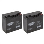 2-Pack 12 Volt 18Ah Sealed Lead Acid Batteries Interstate SLA1116