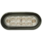 Oval Trailer Stop/Tail/Turn Red LED Clear Lens Light