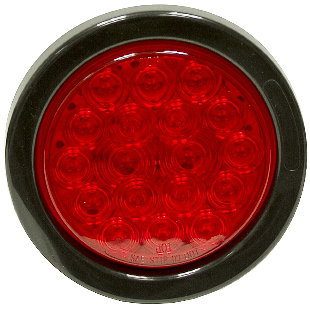 4 Quot 18 Led Red Stop Turn Tail Round Light D O T Trailer