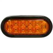"6-1/2"" 10 LED Amber Turn/Parking Oval Light Buyers Products 5626210"