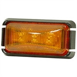 "2-1/2"" 3 LED Amber Rectangular Light"