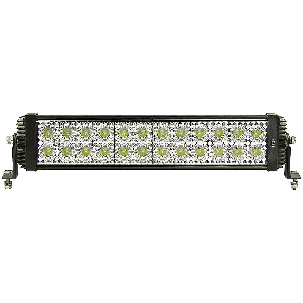24 led 12 24 volt dc 5400 lumen spot flood light bar. Black Bedroom Furniture Sets. Home Design Ideas